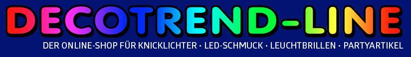 Der Decotrend-Line Shop für Knicklichter, Leuchtwedel und Party-Zubehör
